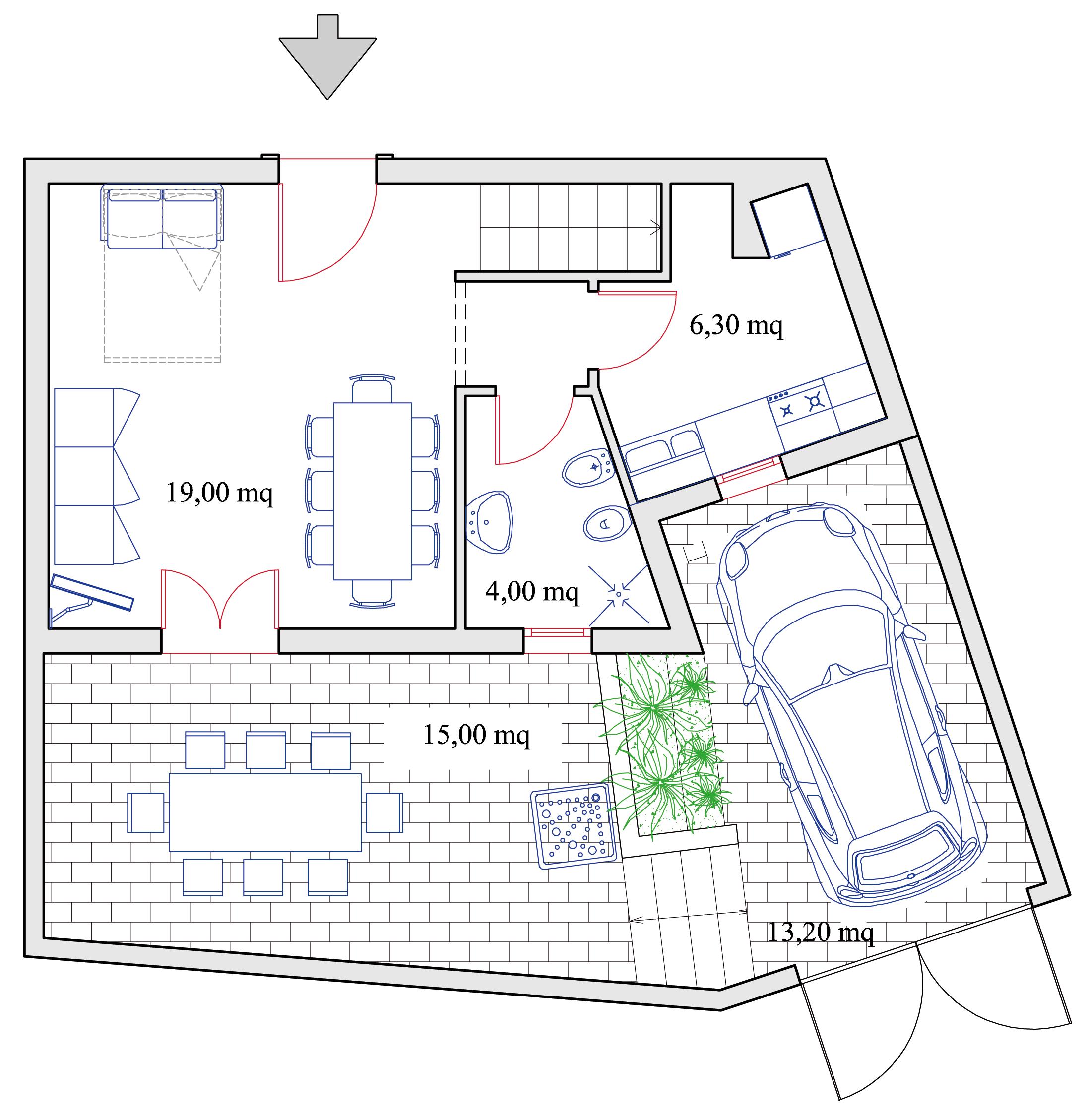 Appartamento agave residence b b borgo antico diso for B b budoni al mare
